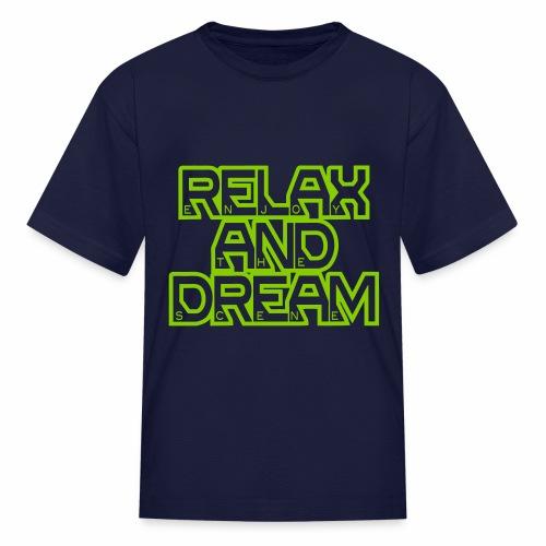 Enjoy the Dream Kids' T-shirt (apple green) - Kids' T-Shirt