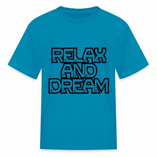 Enjoy the Dream Kids' T-shirt (black) - Kids' T-Shirt