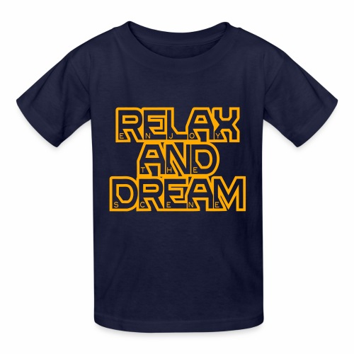 Enjoy the Dream Kids' T-shirt (neon orange) - Kids' T-Shirt