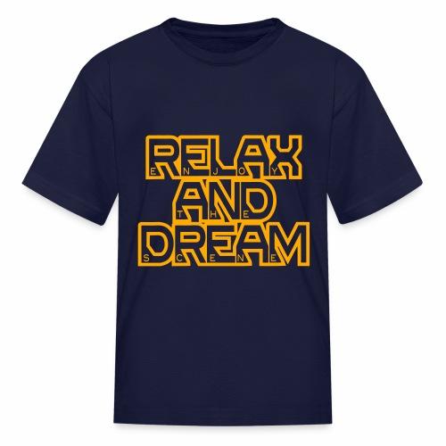 Enjoy the Dream Kids' T-shirt (neon orange) - Kids' T-Shirt