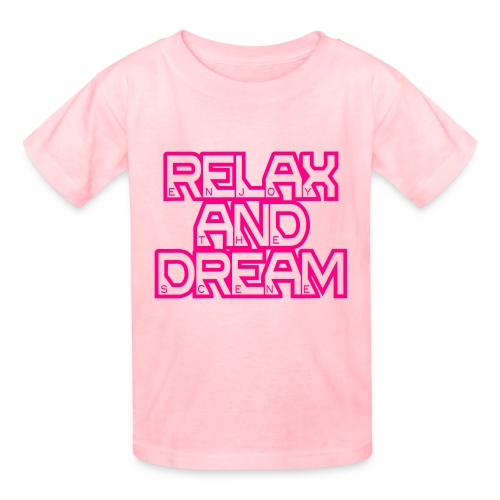 Enjoy the Dream Kids' T-shirt (neon pink) - Kids' T-Shirt