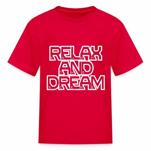 Enjoy the Dream Kids' T-shirt (white) - Kids' T-Shirt