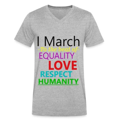 I March V-Neck t-shirt - Men's V-Neck T-Shirt by Canvas