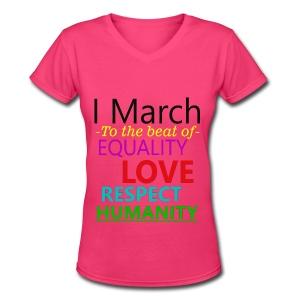 I March V-Neck t-shirt - Women's V-Neck T-Shirt