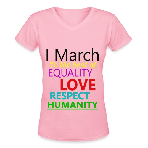 I March V-Neck t-shirt - Women's V-Neck T-Shirt