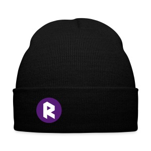 Winter Cap with Right Sided R - Purple - Knit Cap with Cuff Print