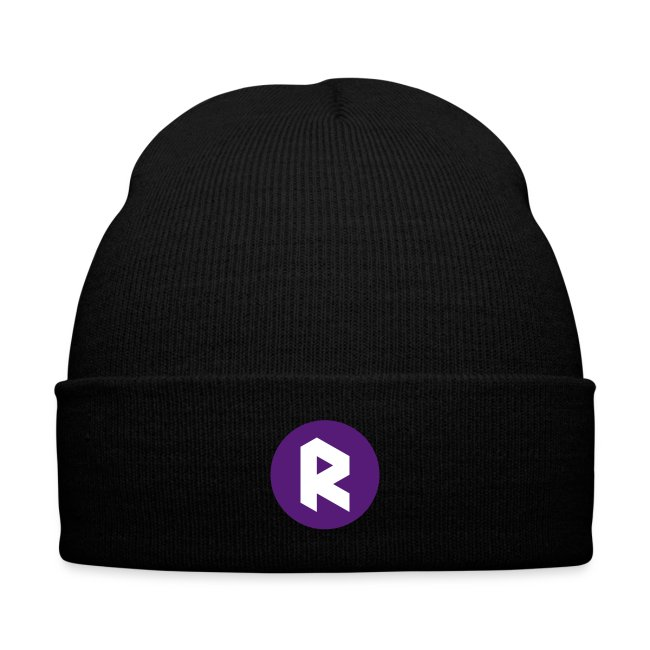 Winter Cap with Center R - Purple