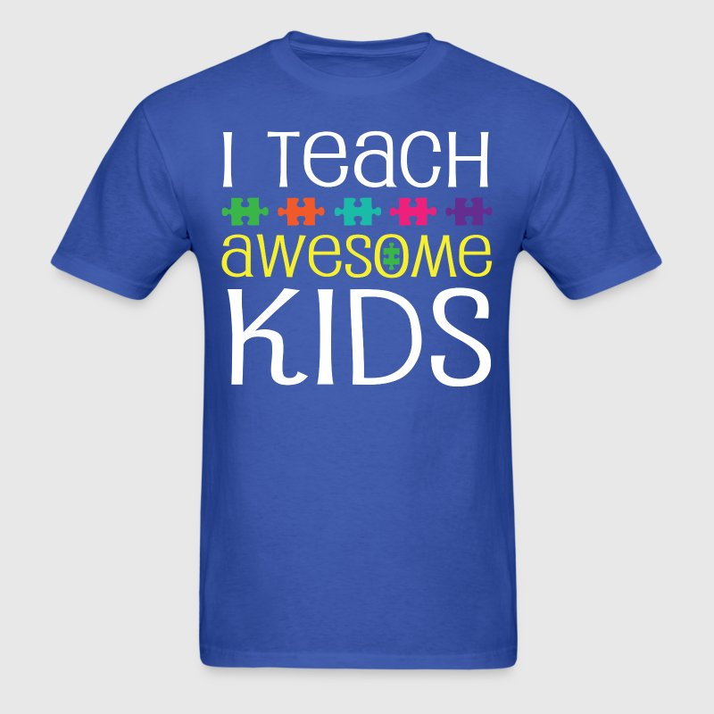 Autism Teacher Awareness Support T-Shirts - Men's T-Shirt