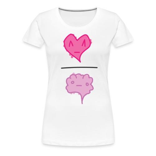 Heart / Brain - wht tee W - Women's Premium T-Shirt