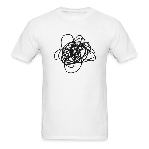 Scribble - wht tee M - Men's T-Shirt