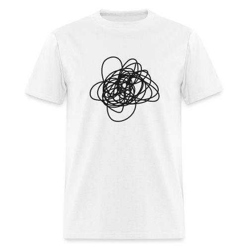 Scribble - wht tee M - Men's T-Shirt