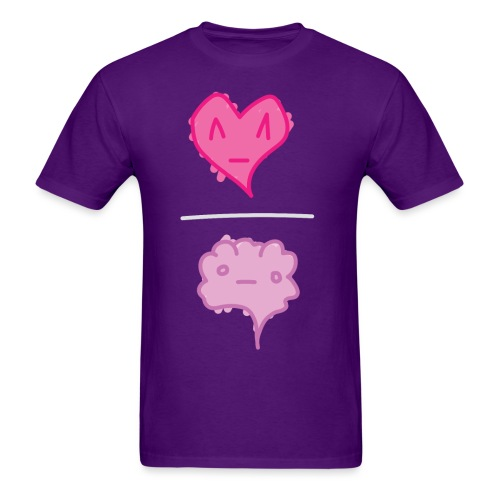 Heart / Brain - ppl tee M - Men's T-Shirt