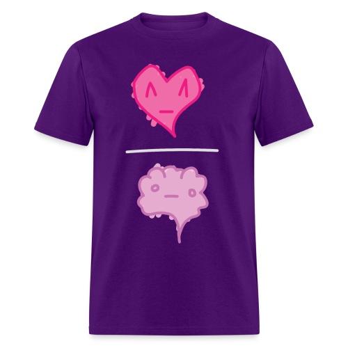Heart / Brain - ppl tee M - Men's T-Shirt
