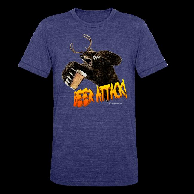 BEER ATTACK! Unisex Tri-Blend T-Shirt