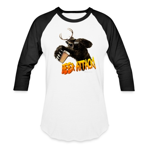 BEER ATTACK! Baseball T-Shirt - Baseball T-Shirt