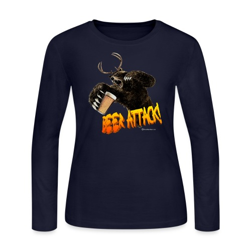 BEER ATTACK! Women's Long Sleeve T-Shirt - Women's Long Sleeve Jersey T-Shirt