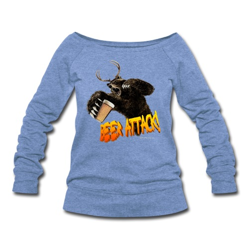BEER ATTACK! Women's Wideneck Sweatshirt - Women's Wideneck Sweatshirt