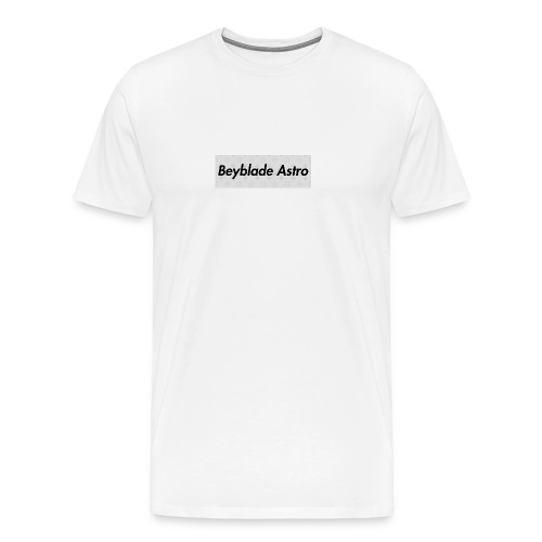 Designer Box Logo Tee - Men's Premium T-Shirt