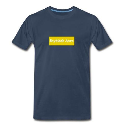 Yellow Box Logo Tee - Men's Premium T-Shirt