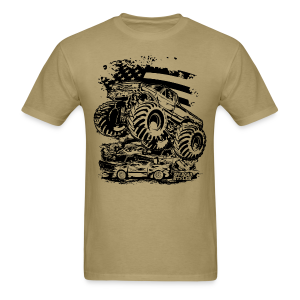 Monster Truck Grunge USA - Men's T-Shirt