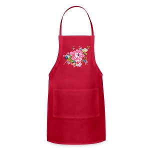 Wedding Pink Peony bunch of flowers Aprons - Adjustable Apron
