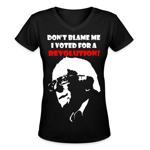 Women's Bernie V-Neck - Women's V-Neck T-Shirt