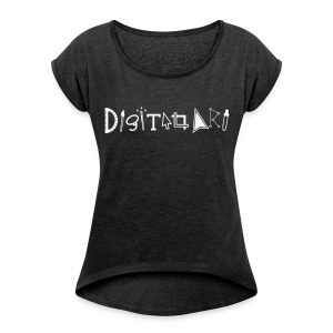 Digital Art Smart (Women's Boxy T-Shirt) - Women's Roll Cuff T-Shirt