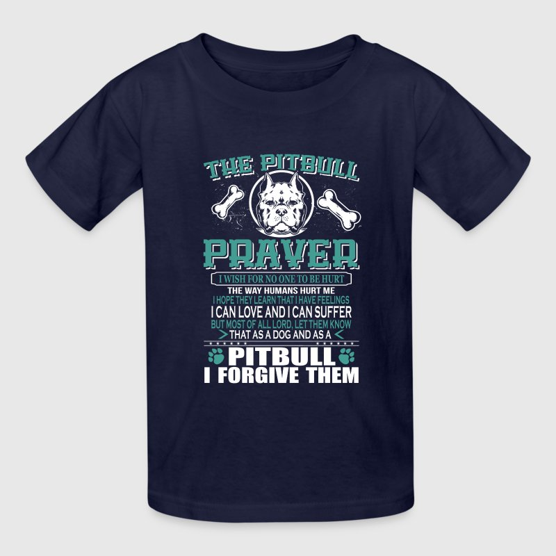 PITBULL PRAYER Kids' Shirts - Kids' T-Shirt