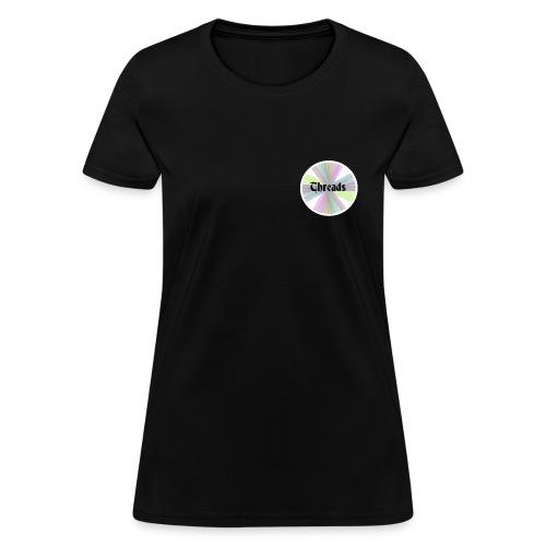 Woman's Rainbow Threads White Outline T-Shirt - Women's T-Shirt