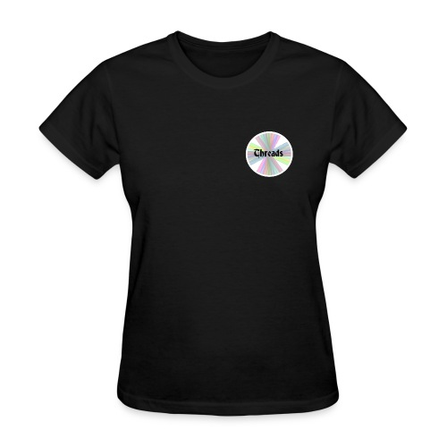 Woman's Rainbow Threads White Outline T-Shirt - Women's T-Shirt