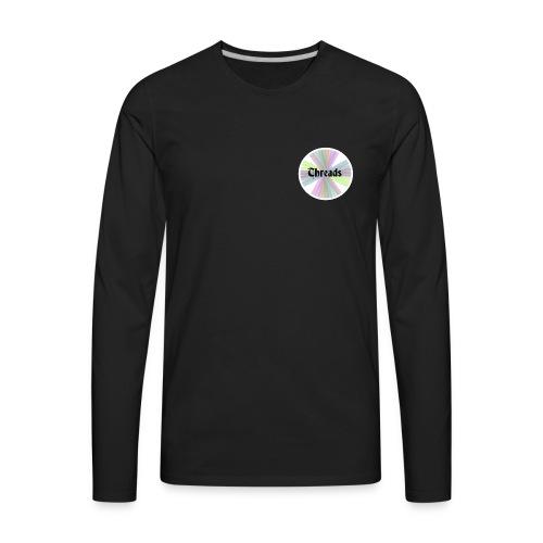 Men's Rainbow Threads White Outline Long Sleeve - Men's Premium Long Sleeve T-Shirt