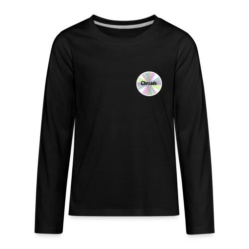 Kid's Rainbow Threads White Outline Long Sleeve - Kids' Premium Long Sleeve T-Shirt