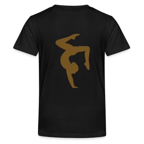 GYMNASTICS - Gold Glitz Print  - Kids' Premium T-Shirt