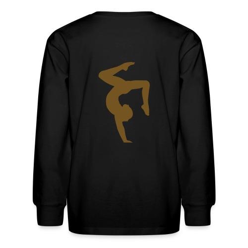 GYMNASTICS - Gold Glitz Print  - Kids' Long Sleeve T-Shirt