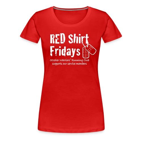 Women's 2017 RED Premium Tee w/ White Printing - Women's Premium T-Shirt