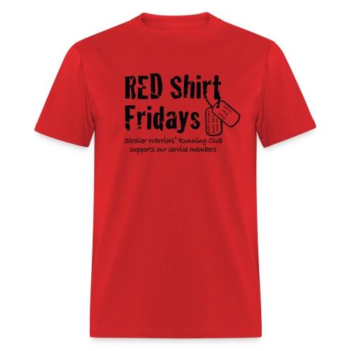 Unisex 2017 RED tee w/ Black Printing - Men's T-Shirt