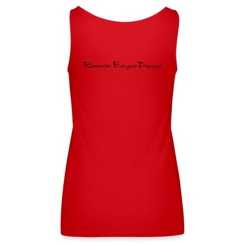 Women's 2017 RED Premium Tank w/ Black Printing - Women's Premium Tank Top