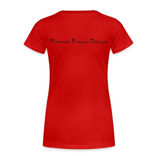 Women's 2017 RED Premium Tee w/ Black Printing - Women's Premium T-Shirt