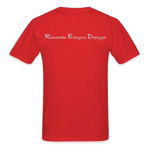Unisex 2017 RED tee w/ White Printing - Men's T-Shirt