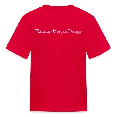 Kids 2017 RED tee w/ White Printing - Kids' T-Shirt