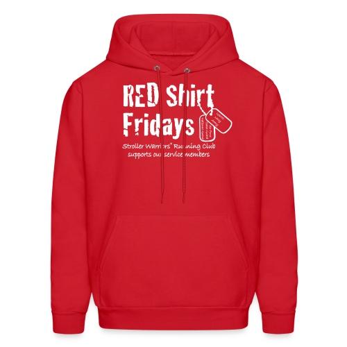 Unisex 2017 RED hoody w/ White Printing - Men's Hoodie