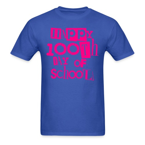 100th Day Of School  NEON PINK - Men's T-Shirt