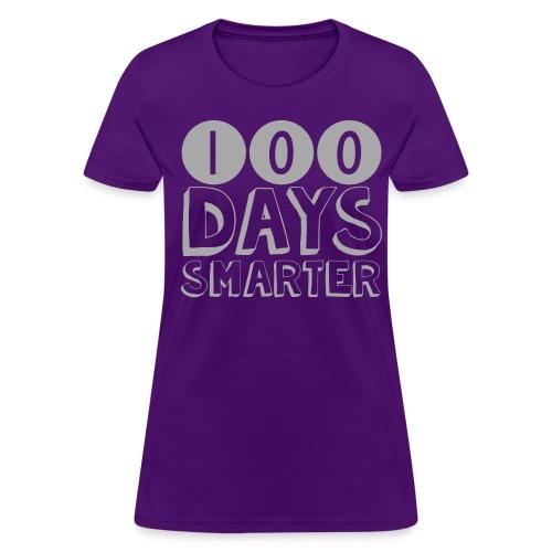 100th Day Of School SILVER GLITTER - Women's T-Shirt