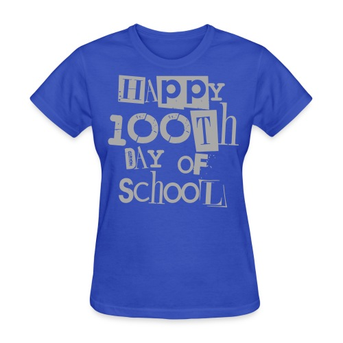 100th Day Of School  SILVER GLITTER - Women's T-Shirt