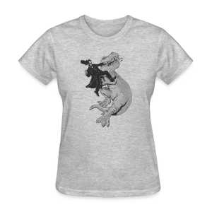 Punching A T-Rex Like A Boss Women's T-Shirt - Women's T-Shirt