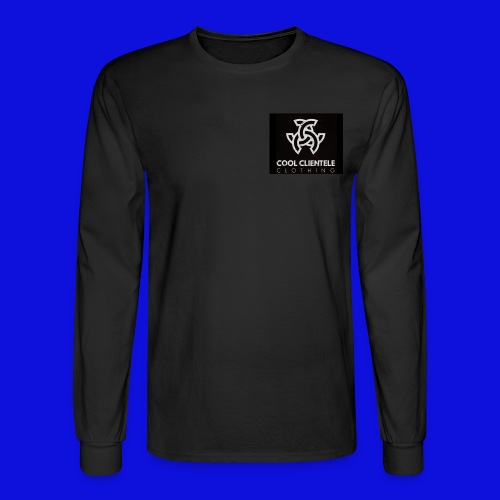 Black Mini Logo Sweater (MENS) - Men's Long Sleeve T-Shirt