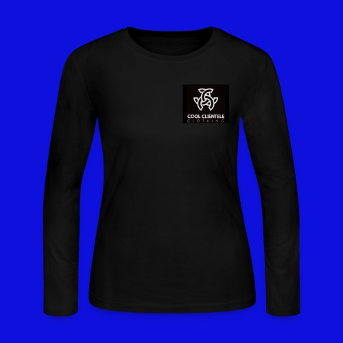 Black Mini Logo Sweater (WOMENS) - Women's Long Sleeve Jersey T-Shirt