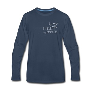 Men's Long Sleeve T Shirt Small Logo - Men's Premium Long Sleeve T-Shirt