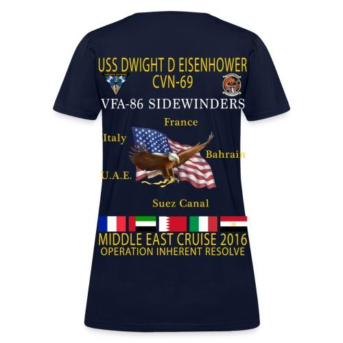 IKE AIRWING - VFA-86 SIDEWINDERS 2016 CRUISE SHIRT - WOMEN'S - Women's T-Shirt