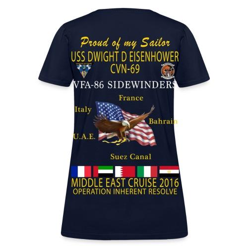 IKE AIRWING - VFA-86 SIDEWINDERS 2016 CRUISE SHIRT - FAMILY - WOMEN'S - Women's T-Shirt